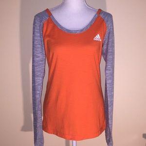 NWT! Adidas Women's Long Sleeve Slub T-Shirt